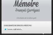 Landing Page Mémoire 3