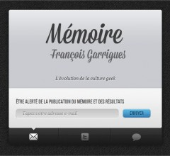 Landing Page Mémoire